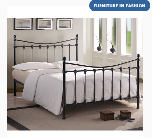 Florida Classic Metal Bed In Black